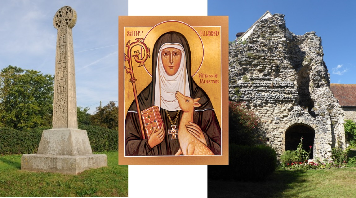 Augustine cross, Mildred, Minster