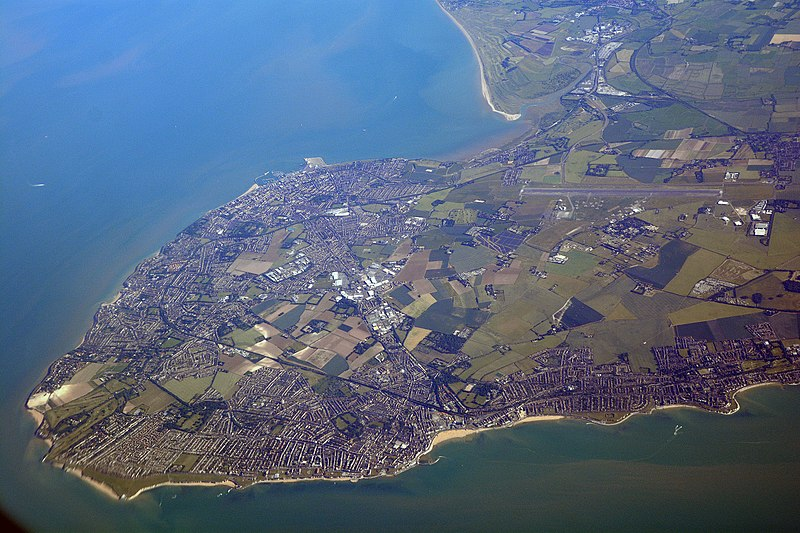 Thanet aerial view from north - Wikipedia from geograph_5434042